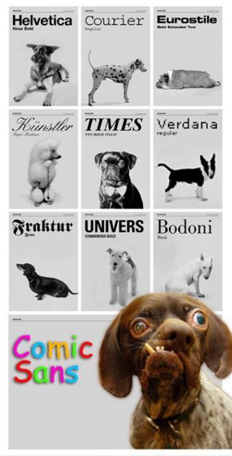 als-honden-lettertypes-waren